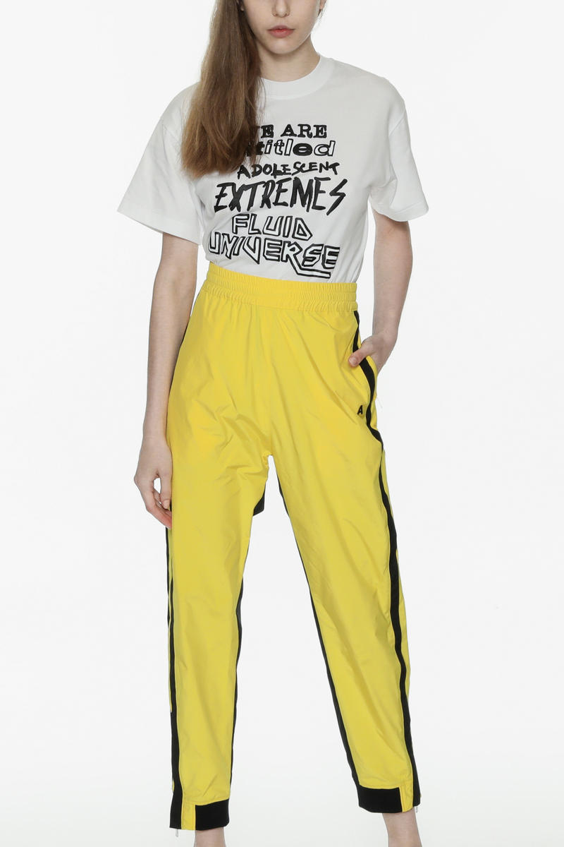 ambush joyce verbal yoon exclusive capsule tracksuit track jacket pants punk tshirt tee yellow black white