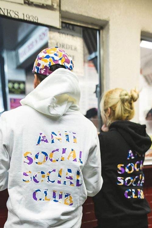 Anti Social Social Club BAPE Hoodies White Black