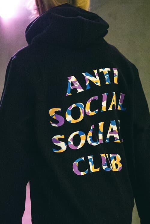 Anti Social Social Club BAPE Hoodie Black