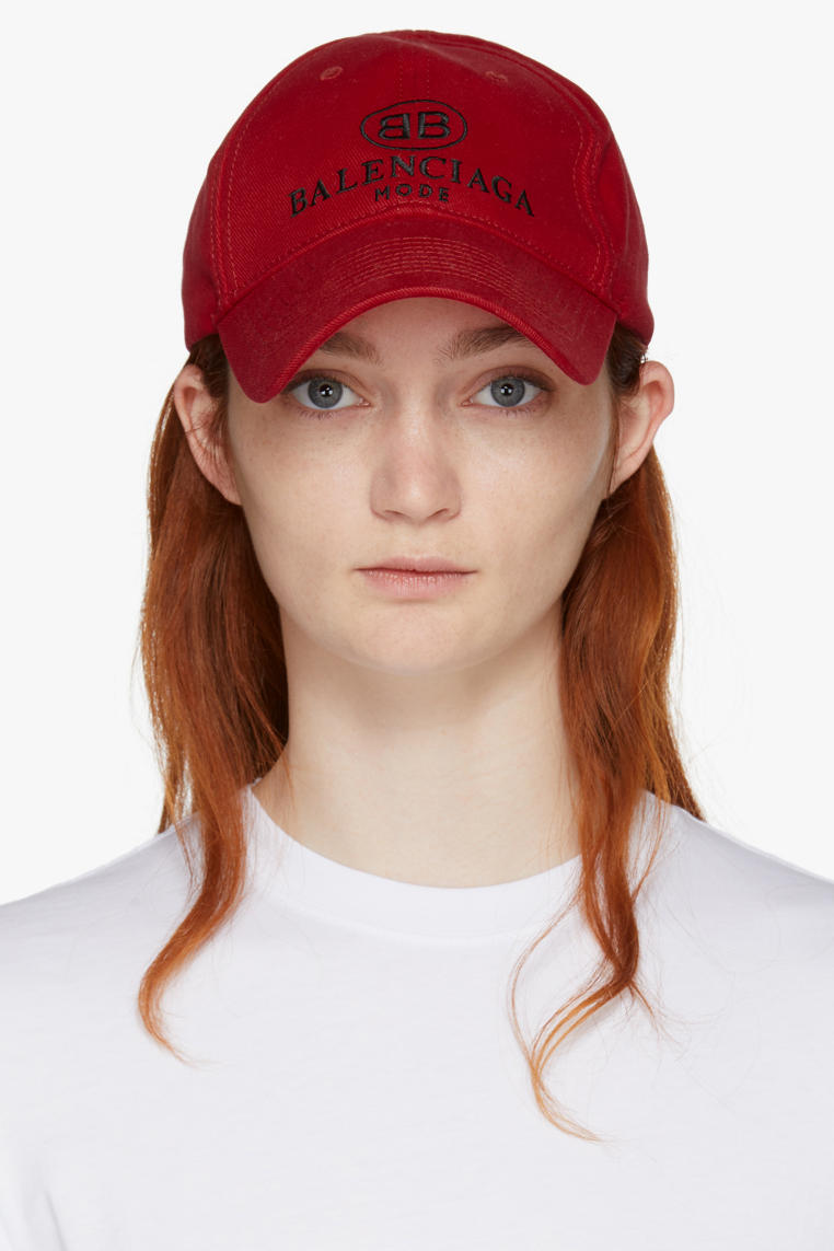 balenciaga demna gvasalia bb dad cap red scarlet front white shirt ginger hair
