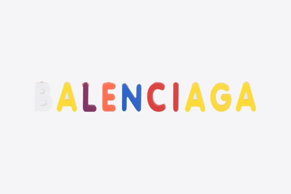 Balenciaga Magnet Alphabet Earring Rainbow
