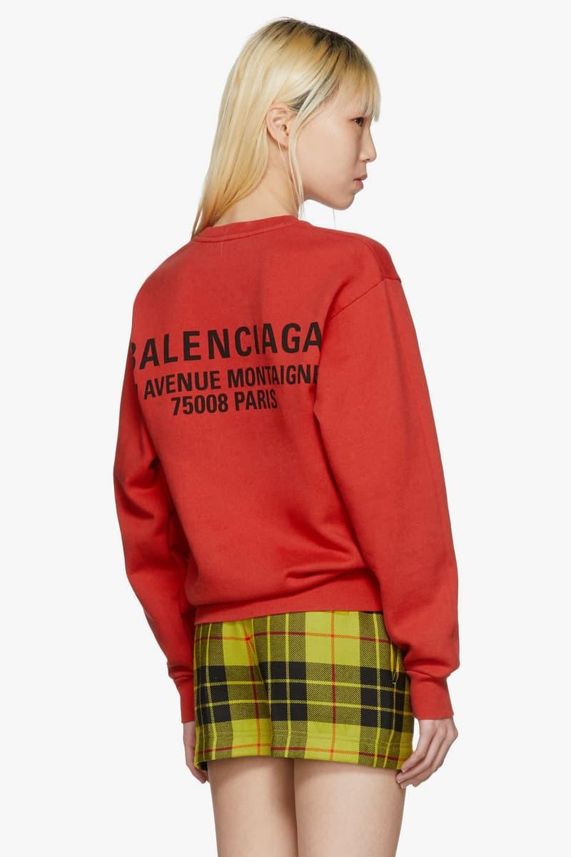 Balenciaga New Logo Hoodies Sweatshirts Casual Streetwear Pink Black Red