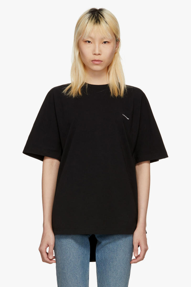 balenciaga logo tees tshirts long sleeve spring summer 2018 technical knit