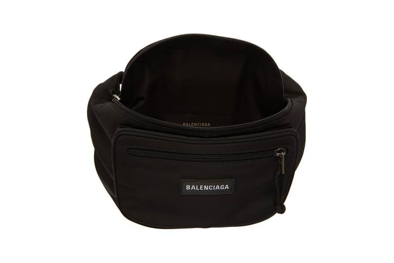 Balenciaga Nylon Explorer Belt Pouch Black