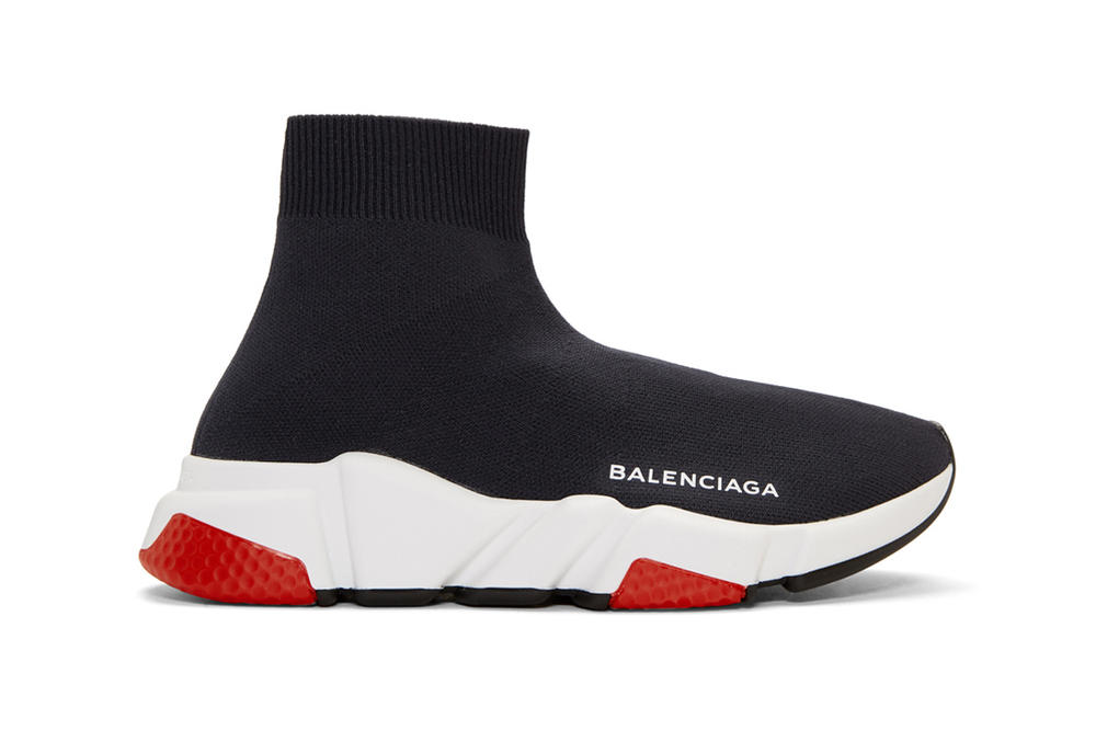 Balenciaga Speed High-Top Sneaker Navy White Red