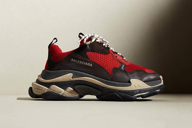 Balenciaga Triple-S Red/Black/White Colorway Sneaker Footwear Shoe Chunky Dad Shoe