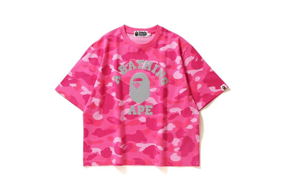 BAPE Camo T-Shirt Pink