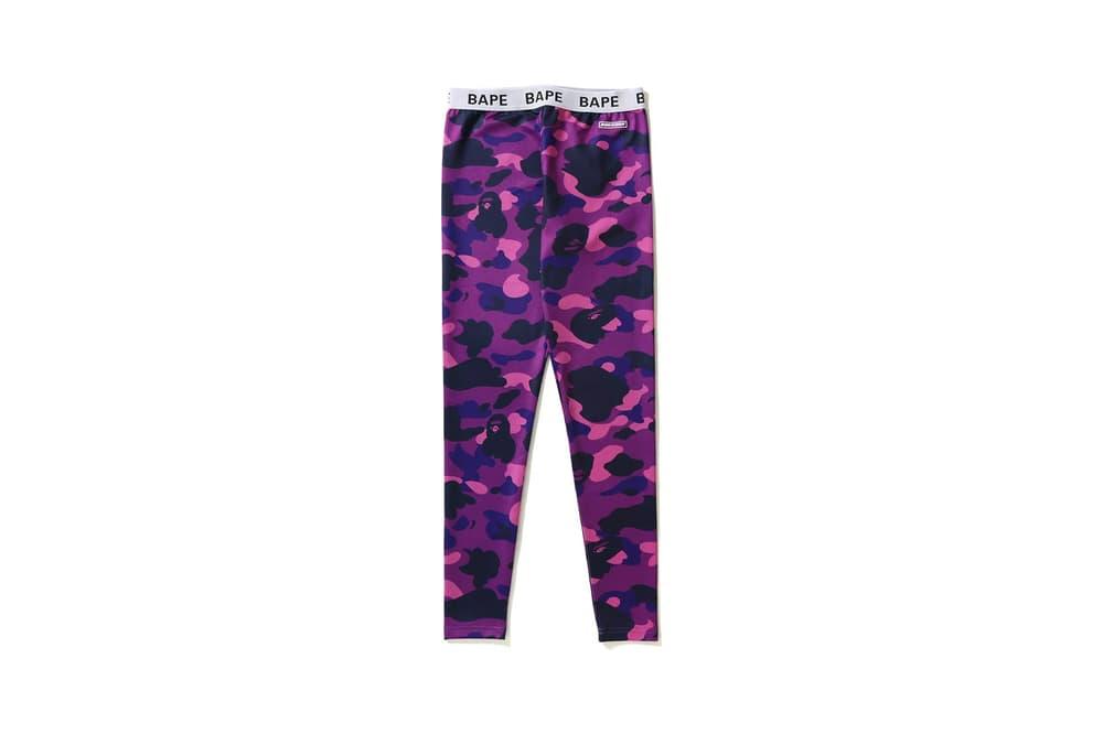 BAPE Camo Leggings Purple