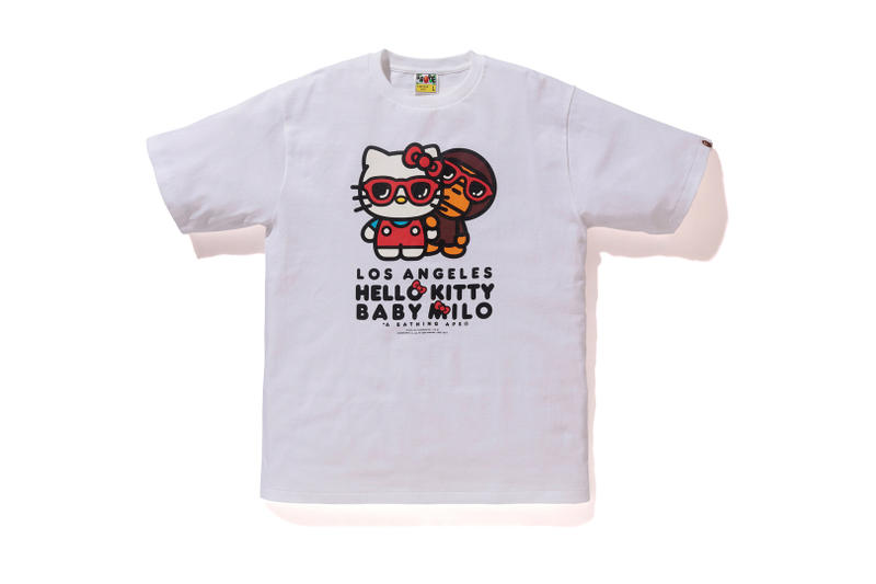 Los Angeles Hello Kitty A Bathing Ape bape black white baby milo sanrio