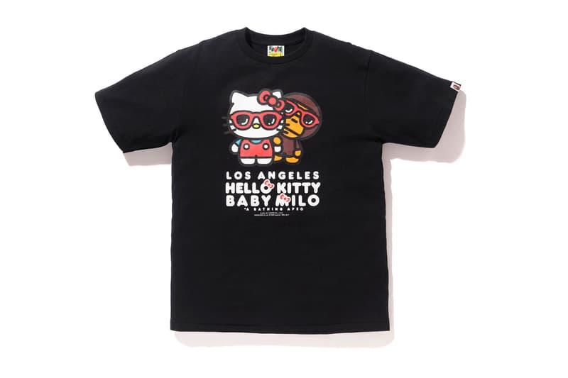 Los Angeles Hello Kitty A Bathing Ape bape black white baby milo sanrio