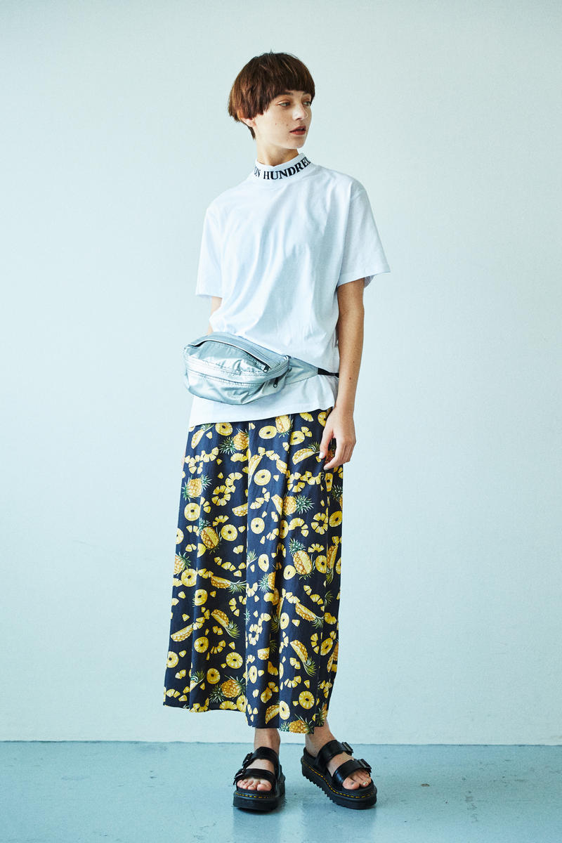 BEAUTY & YOUTH Spring/Summer 2018 Collection Lookbook Floral Pants T-Shirt Fanny Pack White Silver