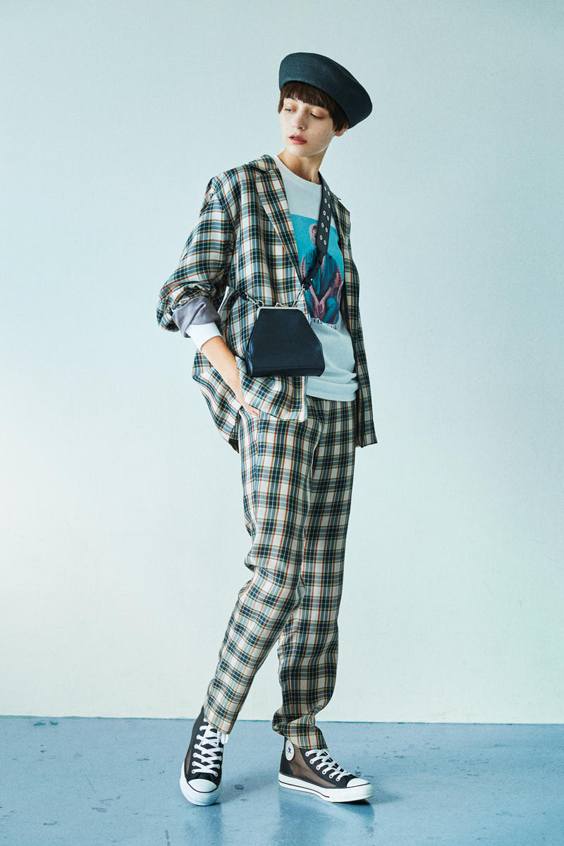 BEAUTY & YOUTH Spring/Summer 2018 Collection Lookbook Plaid Suit T-Shirt Canvas Hat Bag Grey Black