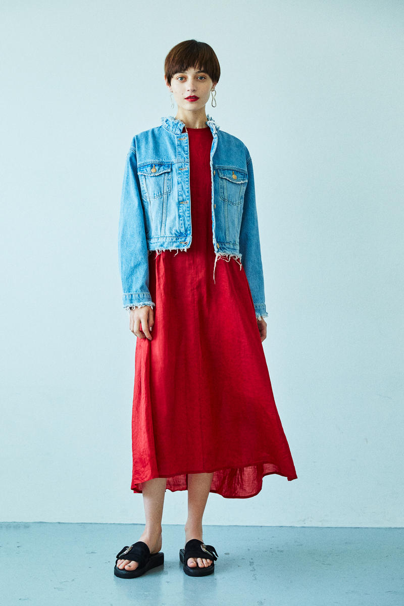 BEAUTY & YOUTH Spring/Summer 2018 Collection Lookbook Dress Denim Jacket Red Blue