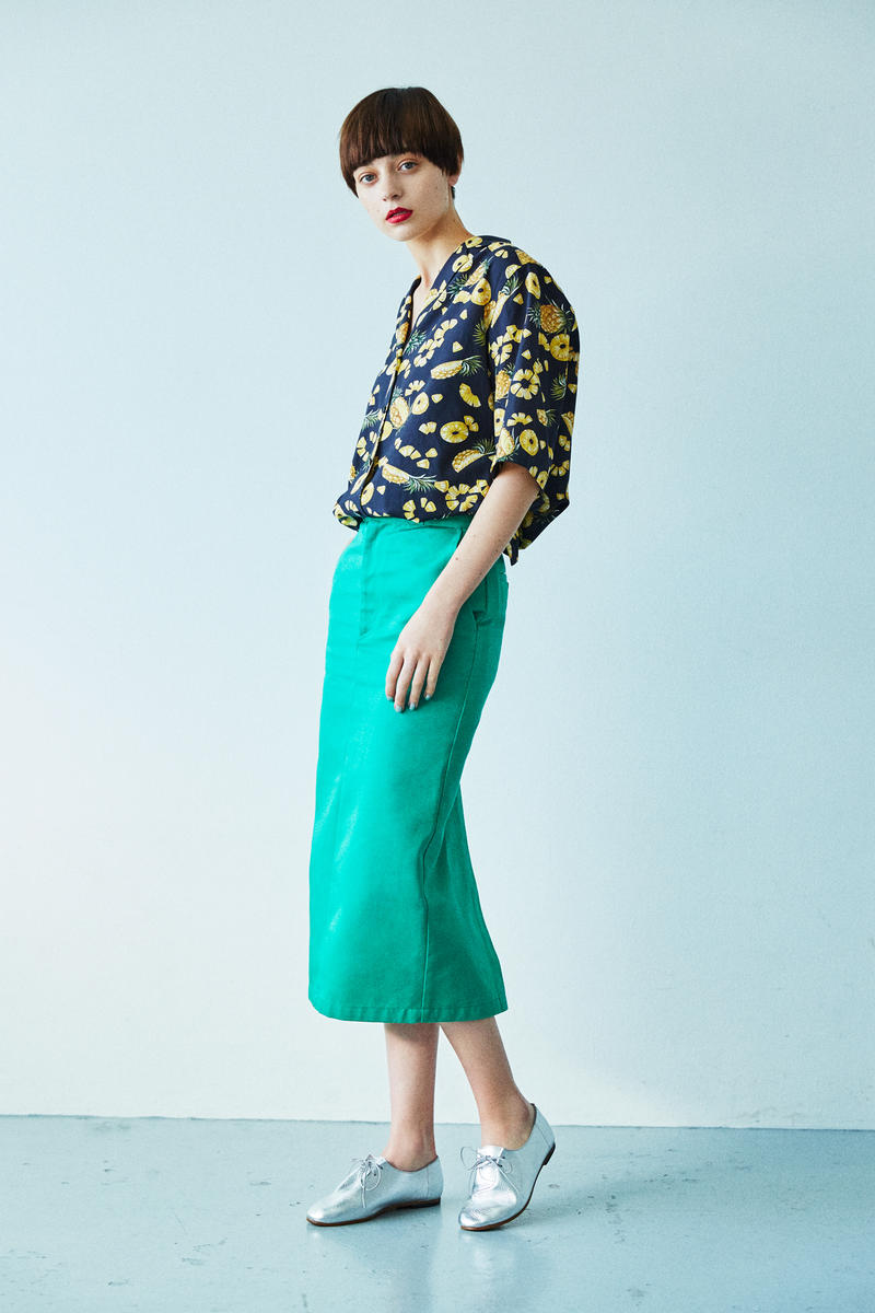 BEAUTY & YOUTH Spring/Summer 2018 Collection Lookbook Floral Shirt Skirt Green
