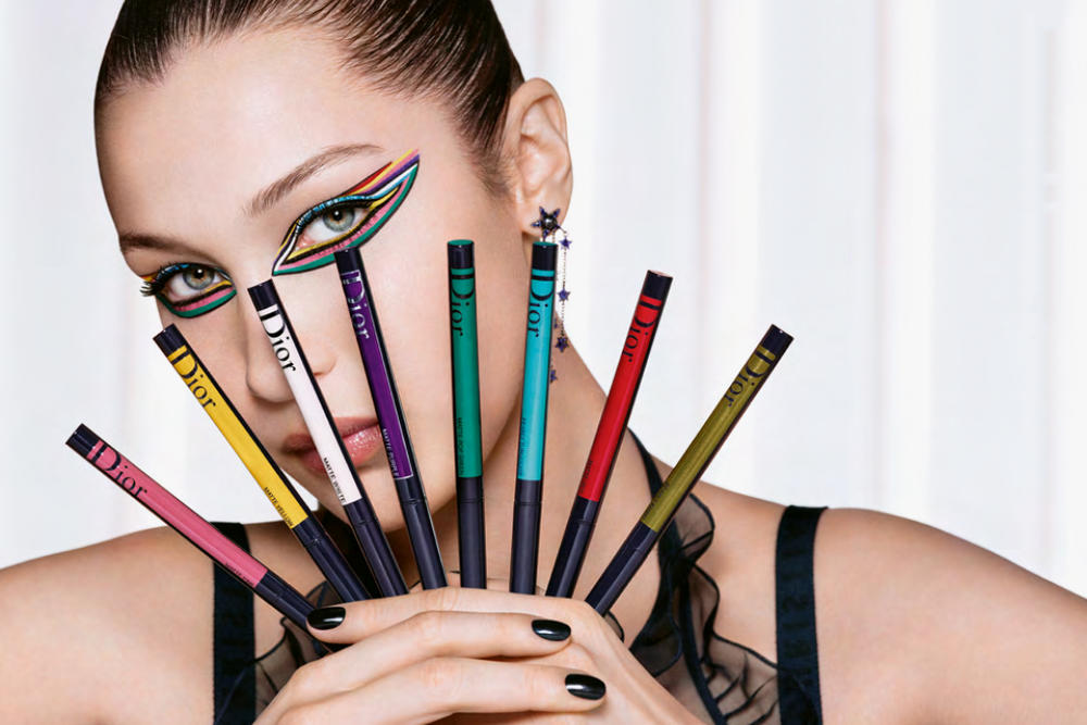 Bella Hadid Diorshow Dior Spring Makeup Collection Campaign Colorful Eyeliner Mascara Spring Summer Beauty