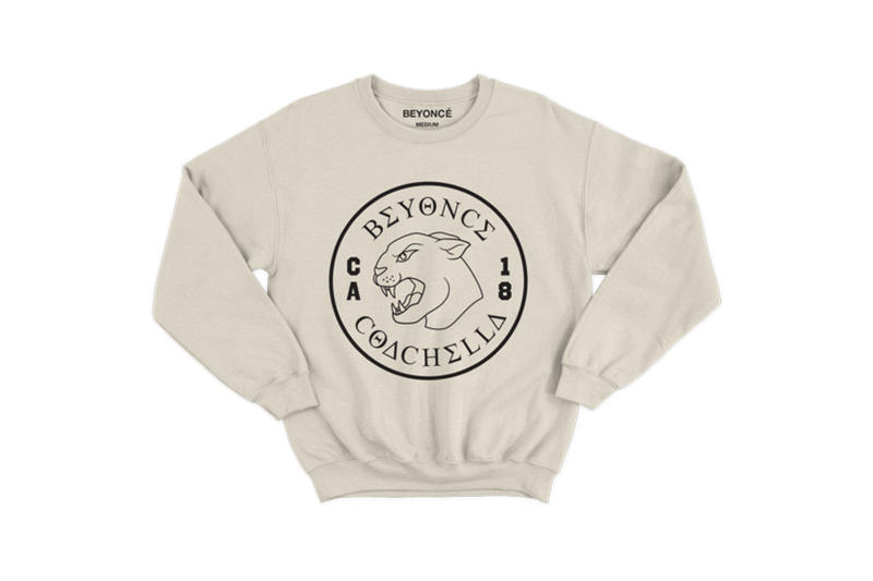 Beyoncé Coachella 2018 Merch Black Panther Crewneck Grey