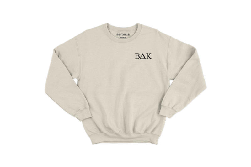 Beyoncé Coachella 2018 Merch BΔK Embroidered Crewneck Grey