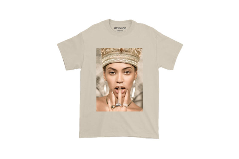 Beyoncé Coachella 2018 Merch Nefertiti Photo Tee Tan