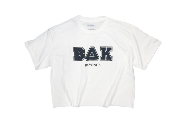 Beyoncé Coachella 2018 Merch BΔK Crop Tee White