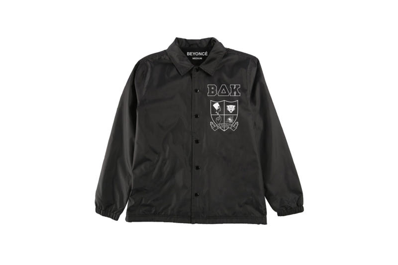 Beyoncé Coachella 2018 Merch Crest Windbreaker Black