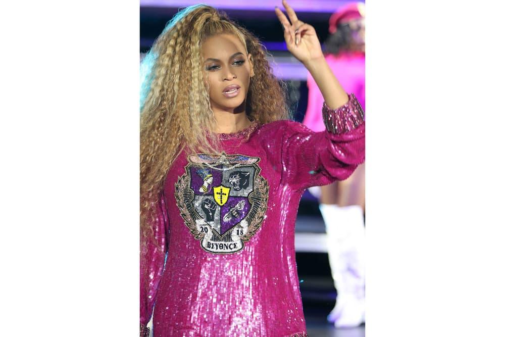 Beyoncé Coachella Weekend Two Looks Pink Silver Beychella Bak 2018 Balmain Reunion Music Festival Band Crown