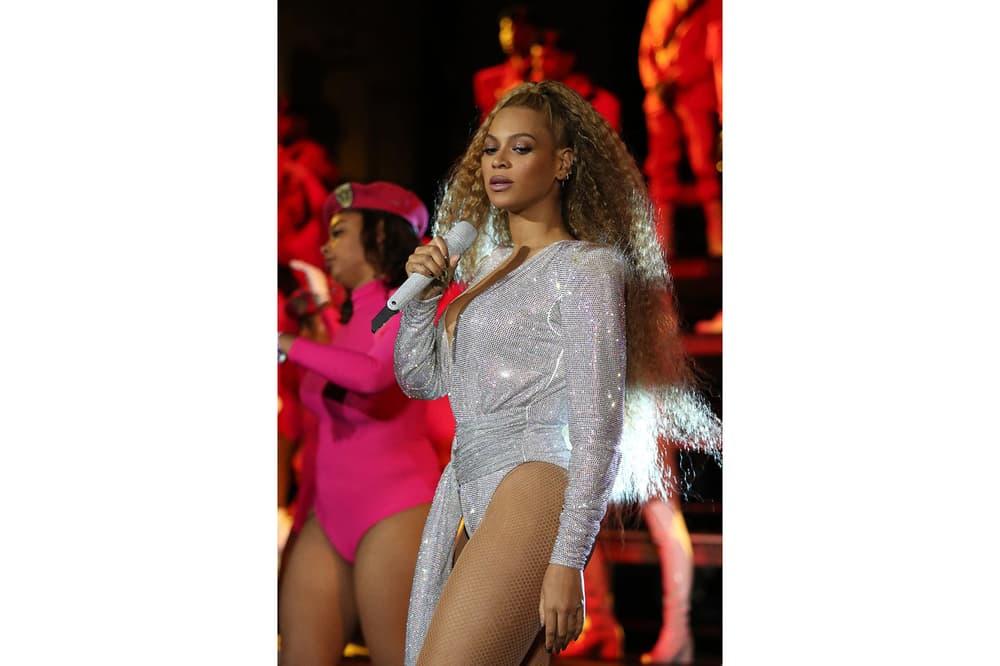 Beyoncé Coachella Weekend Two Looks Pink Beychella Bak 2018 Silver Balmain Reunion Music Festival Band Crown