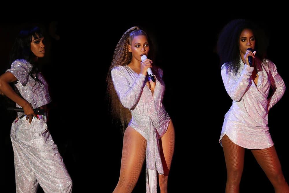 Beyoncé Coachella Weekend Two Looks Pink Silver Beychella Bak 2018 Balmain Reunion Music Festival Band Crown Destiny's Child Kelly Rowland Michelle Williams Reunion