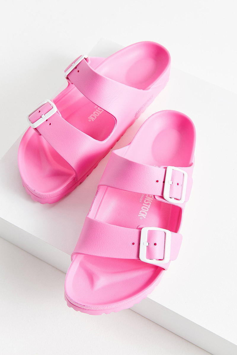 Birkenstock Arizona EVA Sandals Pink Urban Outfitters Price Release Slip Ons Slippers Where to Buy