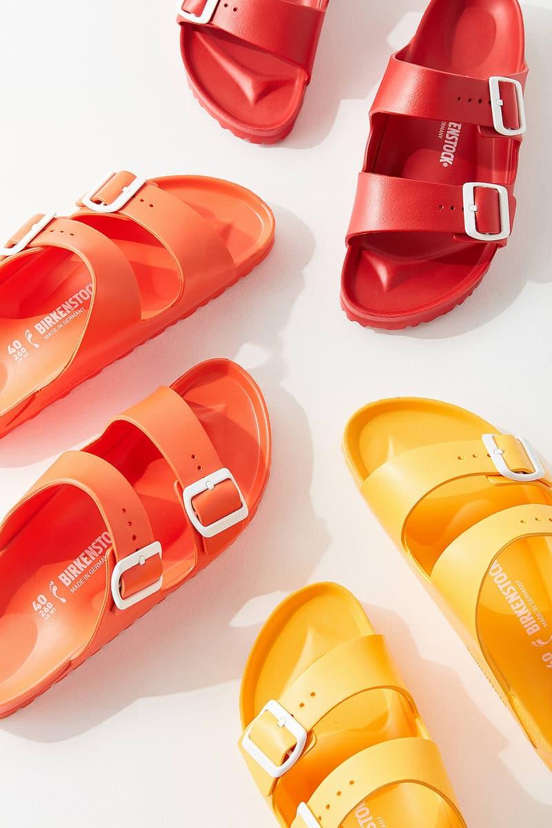 Birkenstock Arizona EVA Sandals Orange Red Yellow Urban Outfitters Price Release Slip Ons Slippers Where to Buy