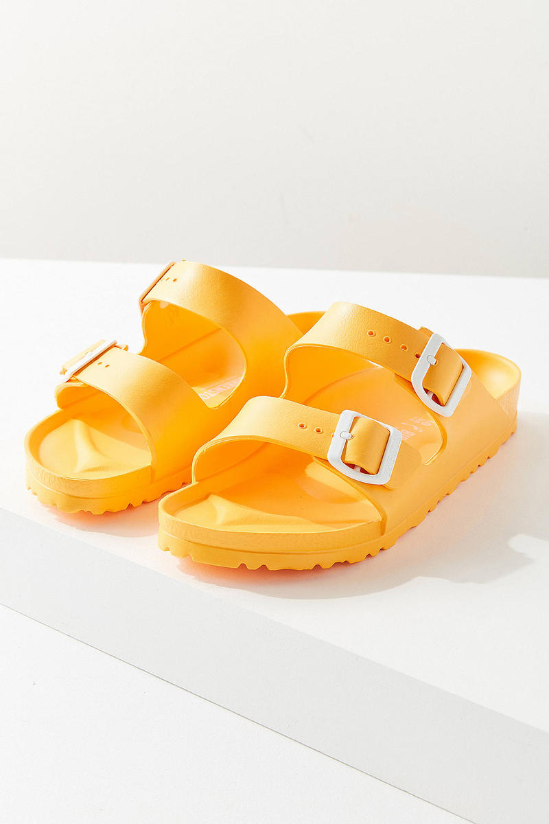 Birkenstock Arizona EVA Sandals Yellow Urban Outfitters Price Release Slip Ons Slippers Where to Buy