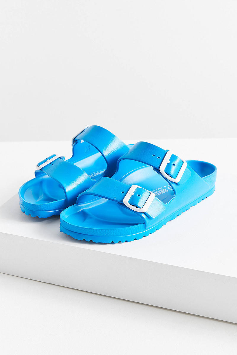 Birkenstock Arizona EVA Sandals Blue Urban Outfitters Price Release Slip Ons Slippers Where to Buy