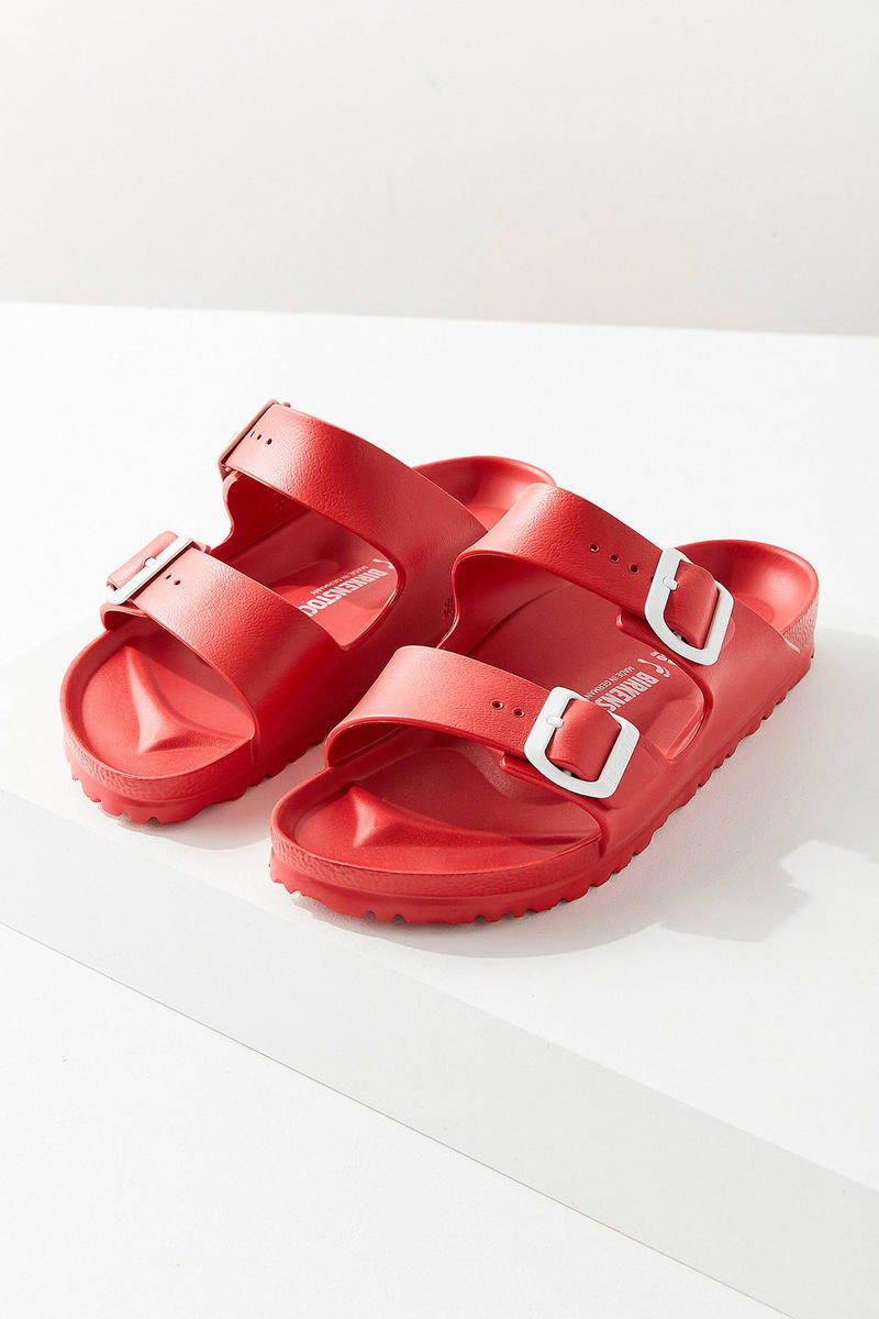 Birkenstock Arizona EVA Sandals Red Urban Outfitters Price Release Slip Ons Slippers Where to Buy