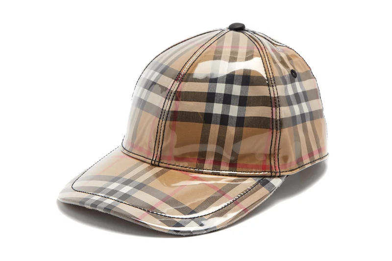 Burberry Vintage Check Plastic Baseball Cap Brown Tan Black White Red Plaid  Tartan Checked Checkered Where e55d7bce9fb