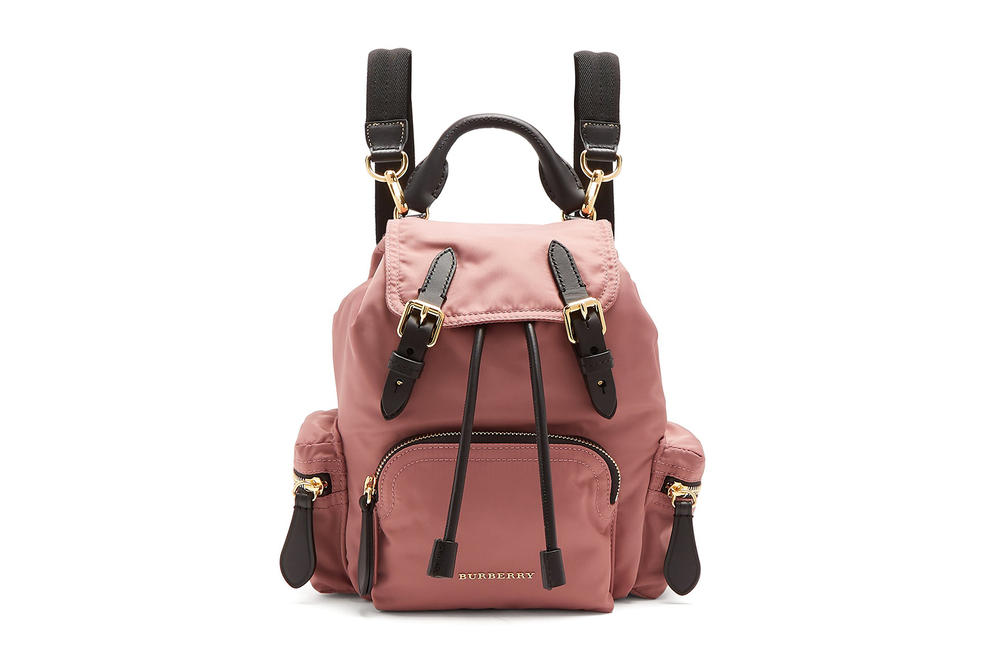 Burberry Dusty Pastel Pink Mini Backpack Where to Buy Small Matchesfashion.com