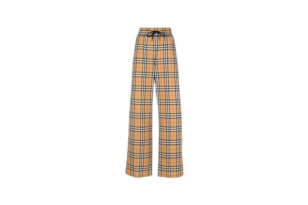 Burberry Stripe Check Pants Tan