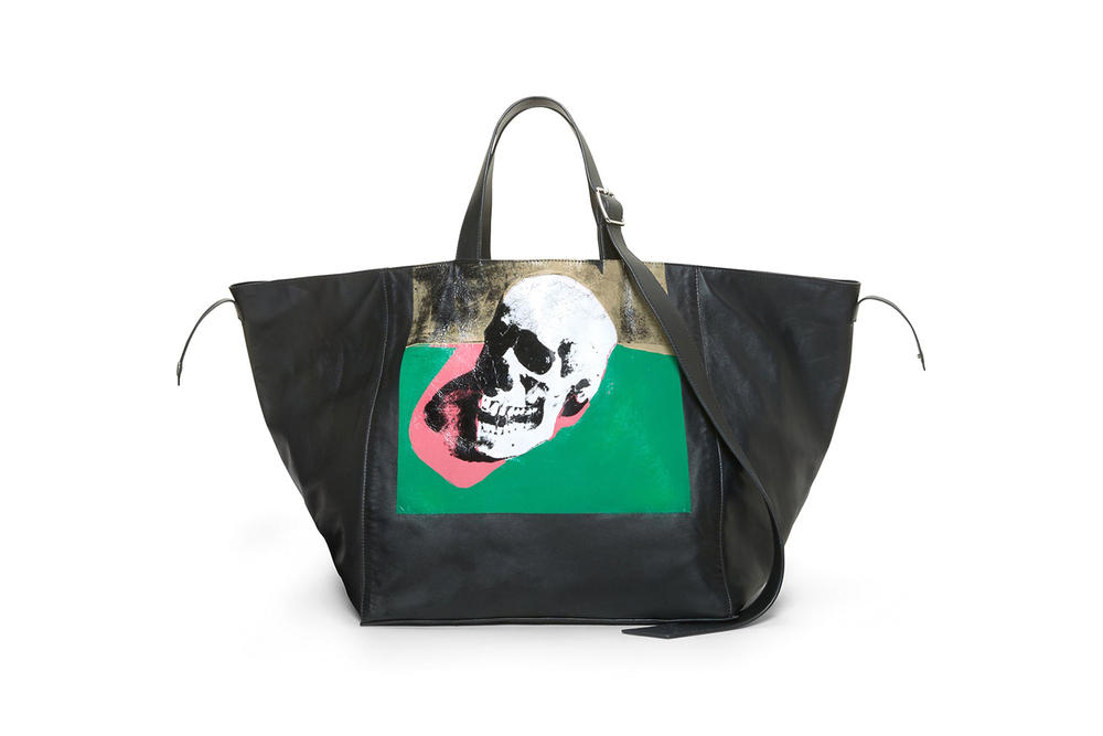 CALVIN KLEIN 205W39NYC Spring/Summer 2018 Handbag Collection Skull Tote Black Pink Green