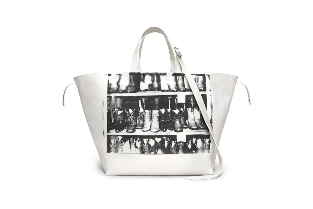 CALVIN KLEIN 205W39NYC Spring/Summer 2018 Handbag Collection Cowboy Boots Tote White Black