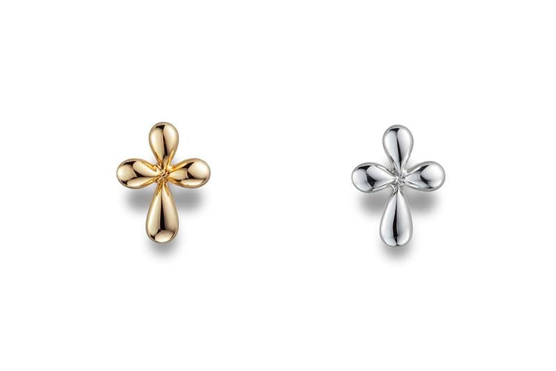 CAREERING Spring Summer 2018 Earrings Cross Studs Gold Silver