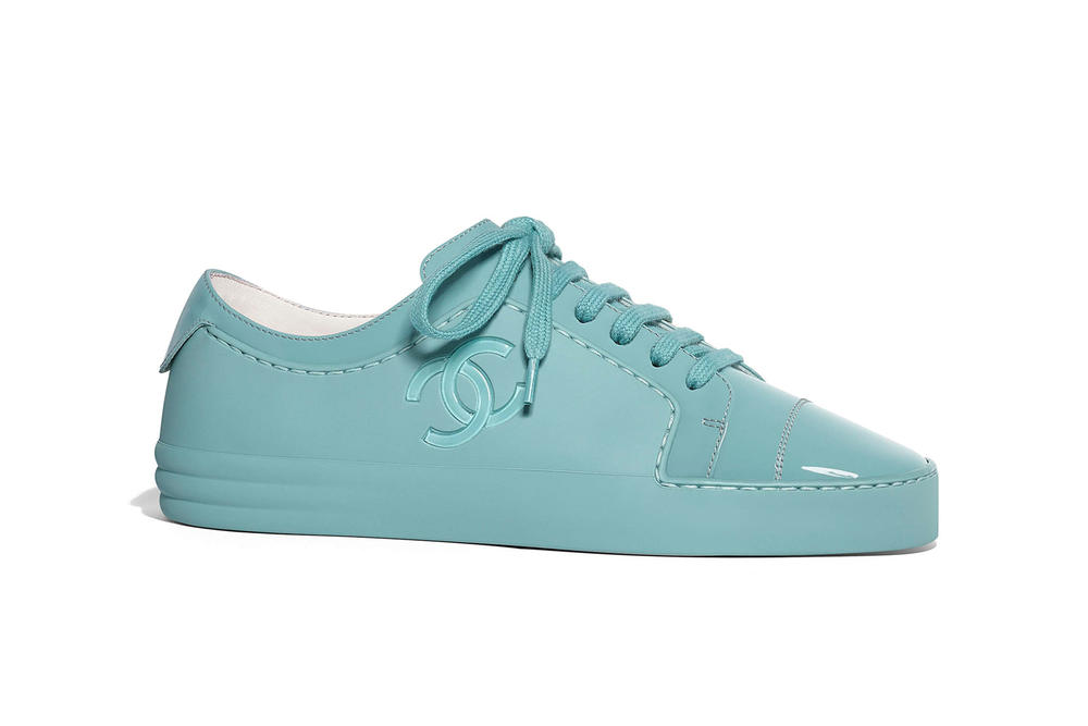 Chanel Spring Summer 2018 Sneaker Collection Colorways Release Price Where to Buy Blue Low Trainer Karl Lagerfeld Double C Logo