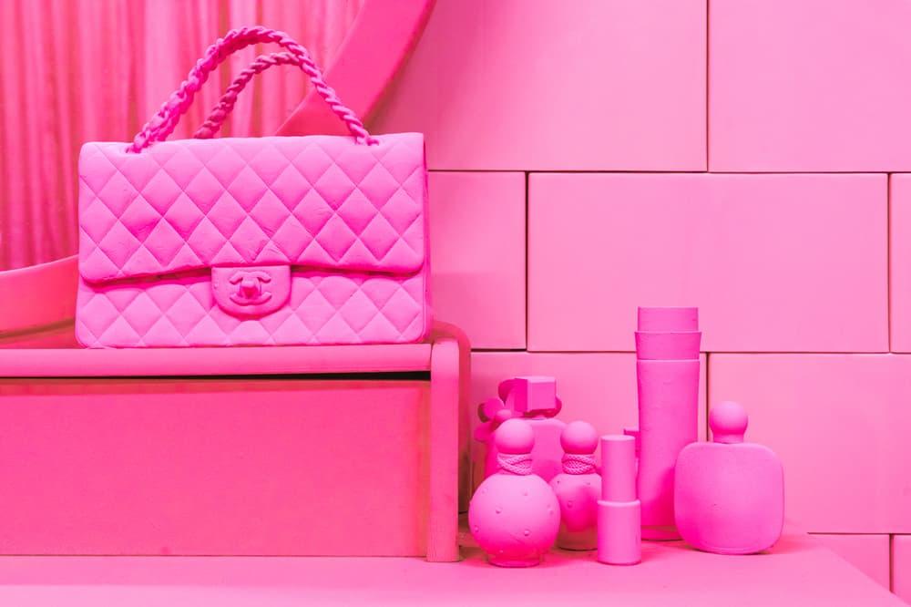 CJ Hendry Monochrome Greenpoint Brooklyn Exhibit Pink Bedroom