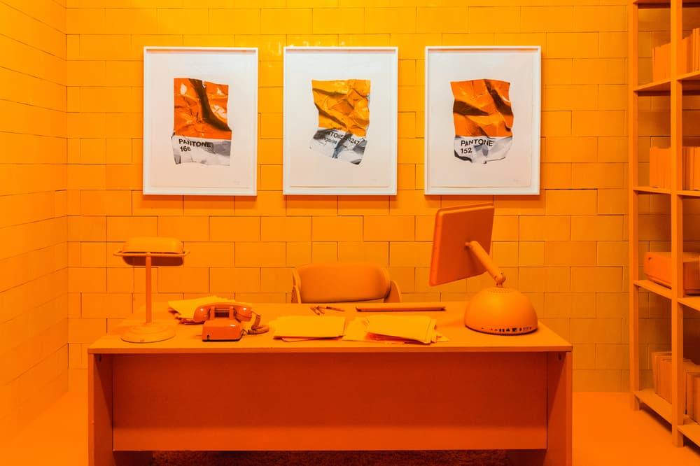 CJ Hendry Monochrome Greenpoint Brooklyn Exhibit Orange Office