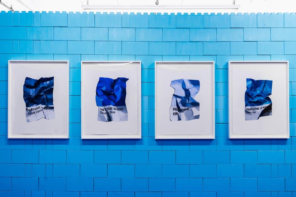 CJ Hendry Monochrome Greenpoint Brooklyn Exhibit Blue Living Room