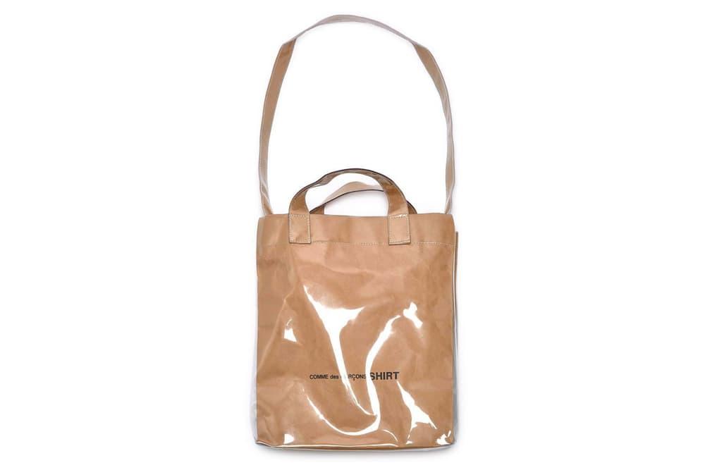 COMME des GARÇONS Plastic Paper Tote Bag Release Restock Shirt Price Where to Buy Dover Street Market London