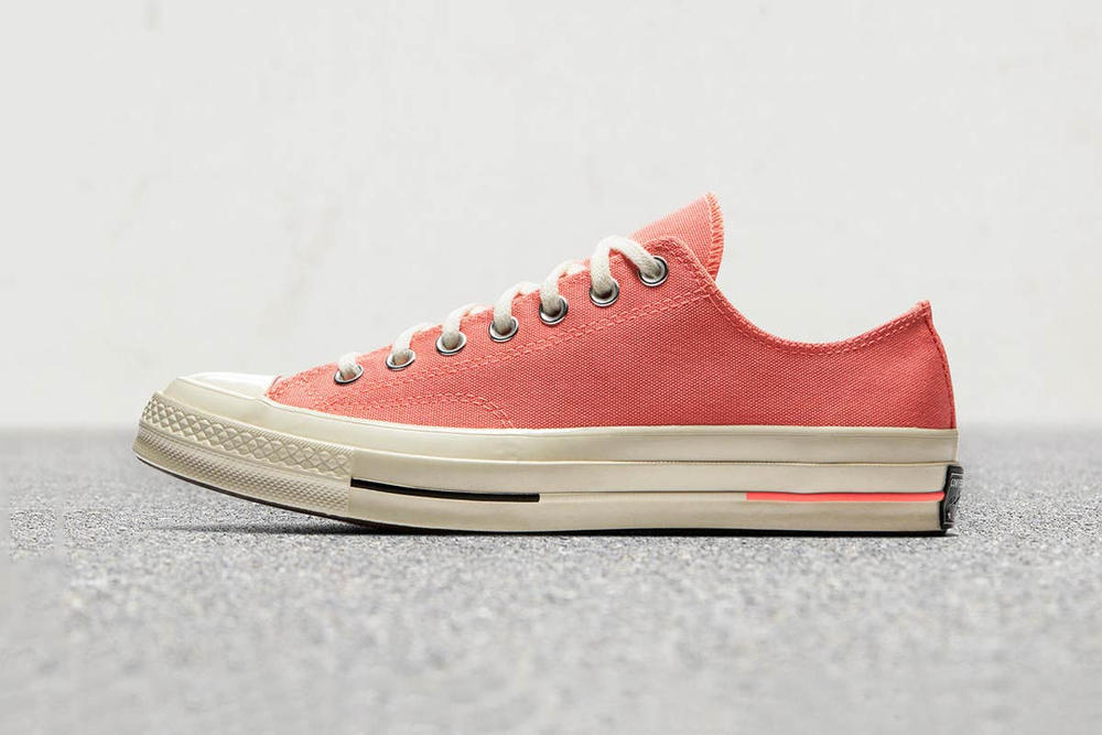 dc0c3063161 Converse Chuck Taylor All Star 70 Canvas Hi Low Crimson Pulse Bleached Aqua  Zitron Illusion Green