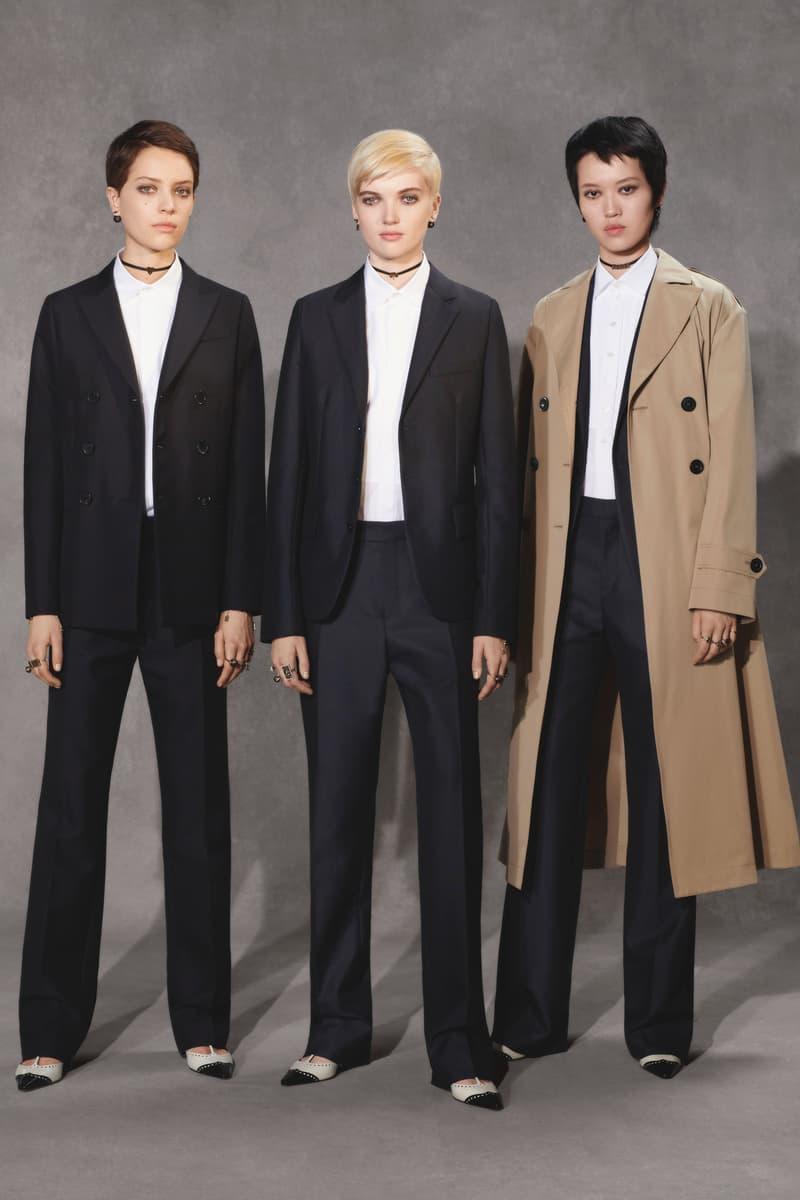 Dior Fall 2018 Collection Lookbook Coats Pants Collared Shirts Black Navy Khaki White