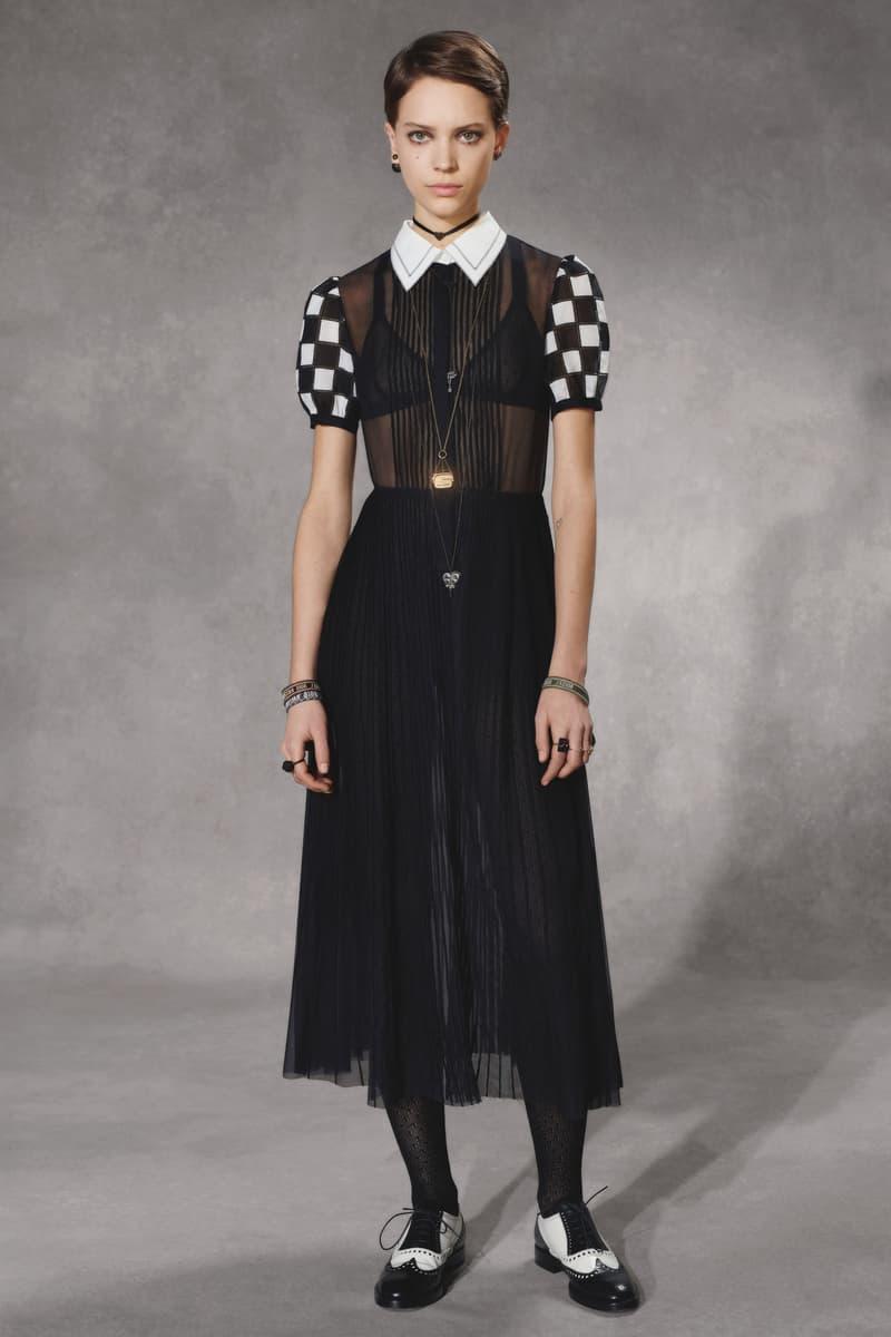 Dior Fall 2018 Collection Lookbook Sheer Dress Black