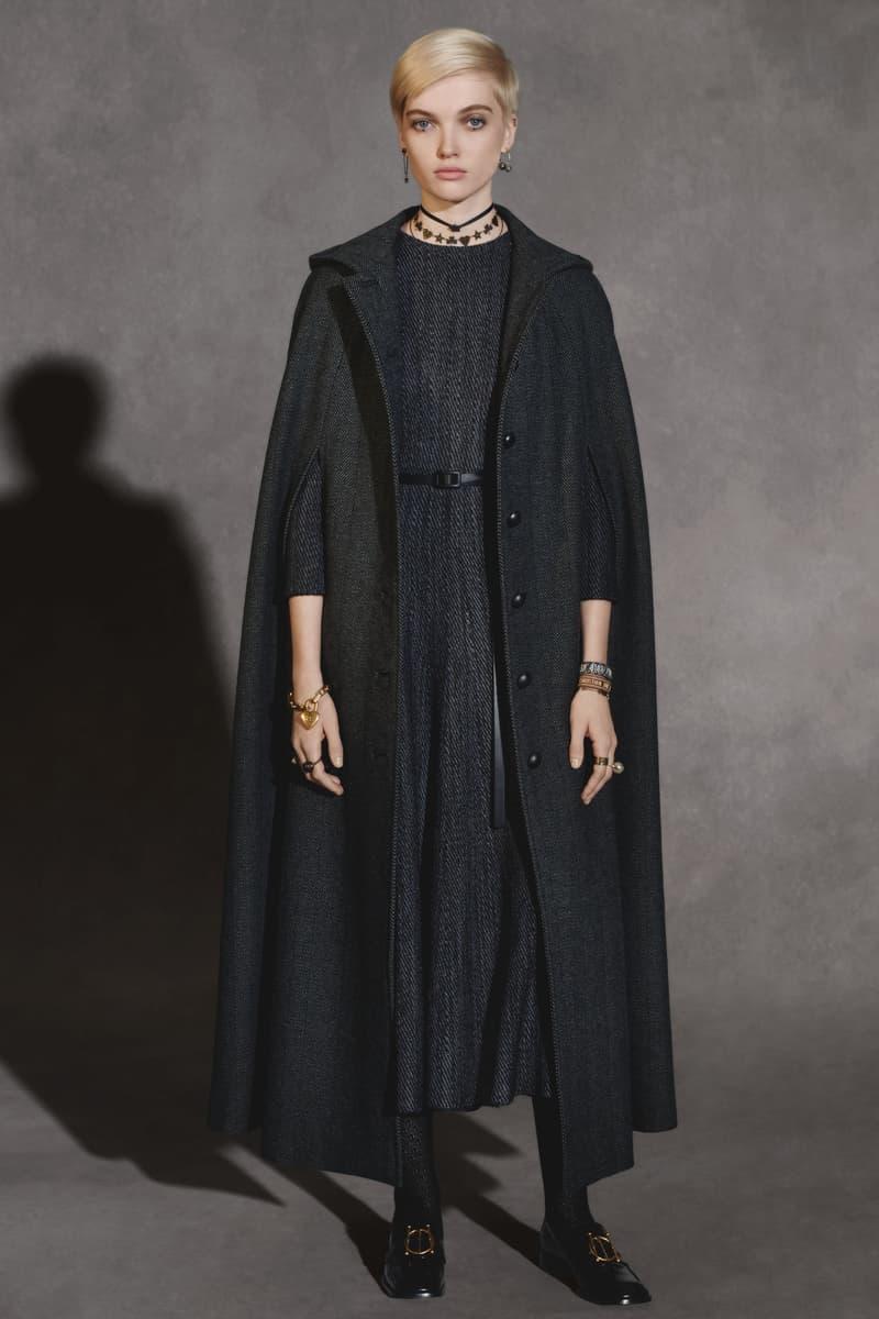 Dior Fall 2018 Collection Lookbook Oversized Tweed Coat Dress Black