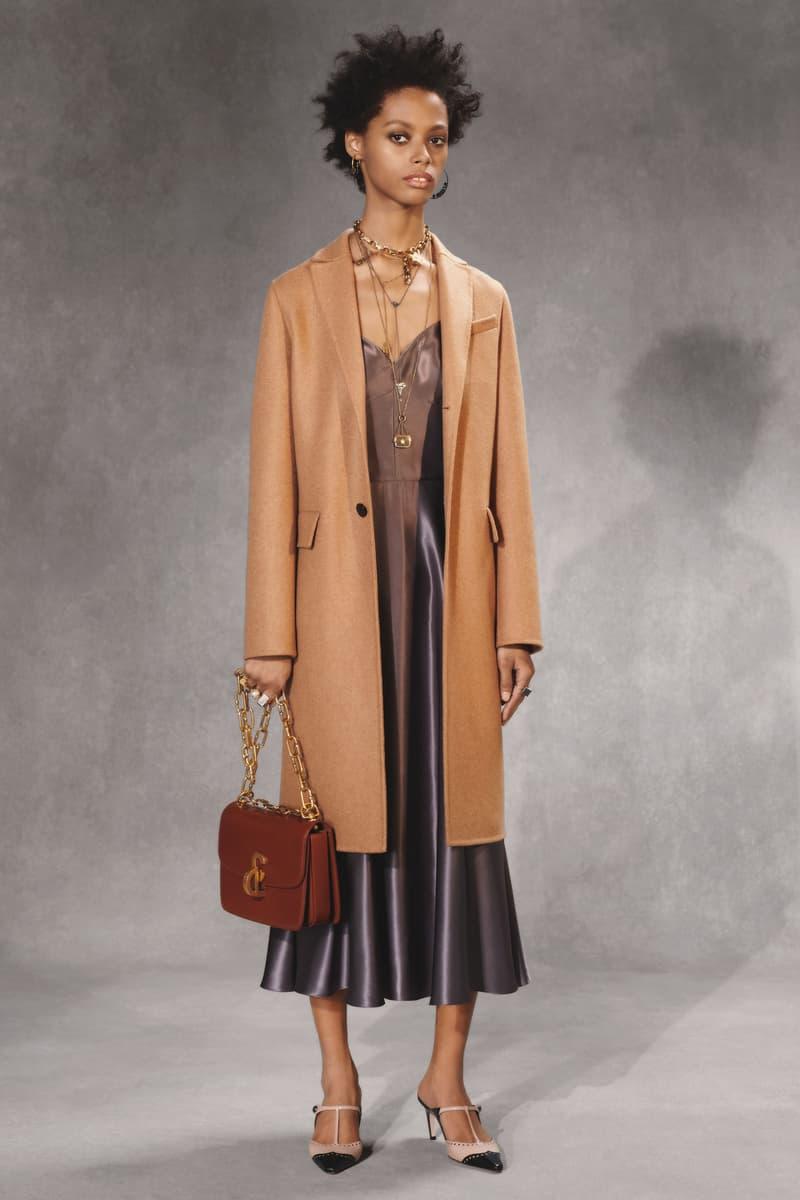 Dior Fall 2018 Collection Lookbook Silk Dress Wool Coat Leather Bag Grey Tan Brown