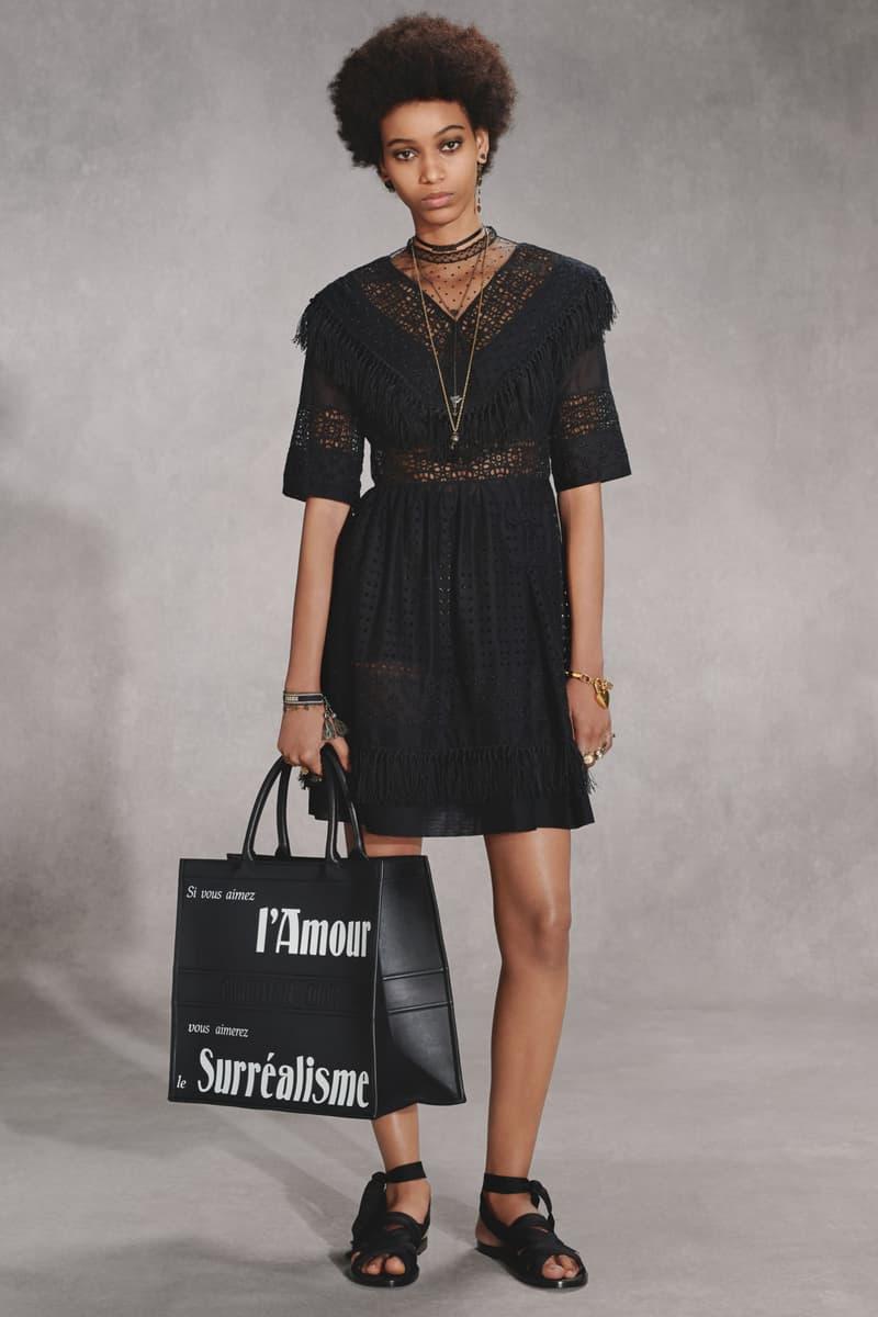 Dior Fall 2018 Collection Lookbook Sheer Dress Tote Bag Black