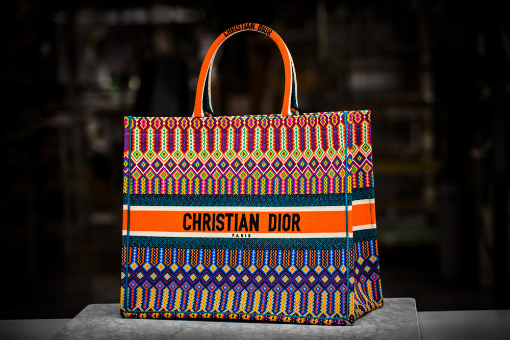 christian dior book tote bags